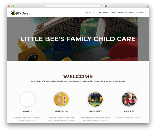 OnePirate best free WordPress theme - littlebeesfamilychildcare.com