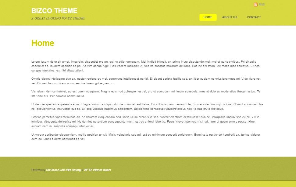 WordPress website template Bizco