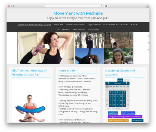 BlueGray free website theme - movementwithmichelle.com
