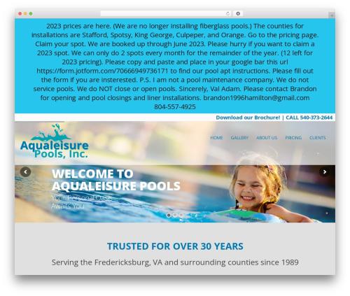 Modular WordPress page template - iaqualeisure.com