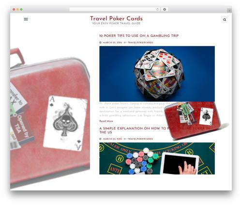 One Page Portfolio theme WordPress portfolio - easytravelcards.com