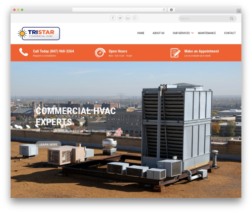 Sanitorium best free WordPress theme - tristarcommercialhvac.com