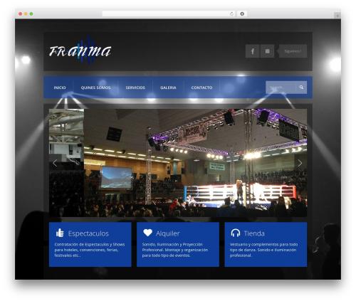 Template WordPress K-BOOM - espectaculosfranma.com