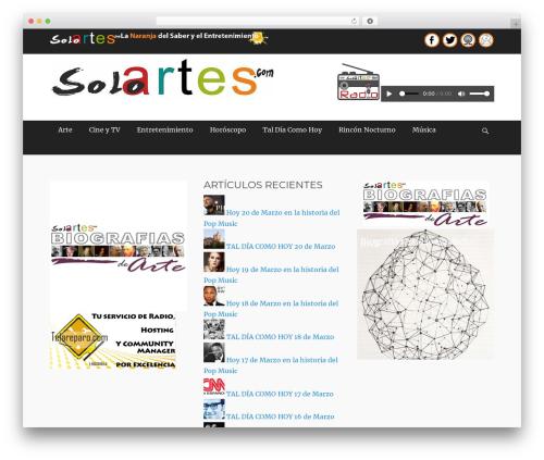Template WordPress Clean Journal Pro - soloartes.com