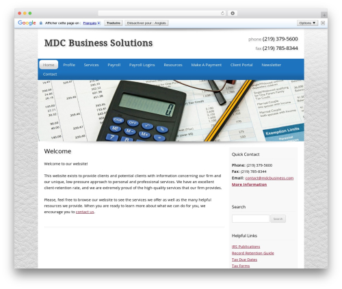 WP template Customized - mdcbusiness.com