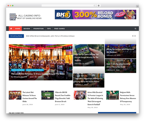 WP template News Vibrant - allcasinoinfo.com