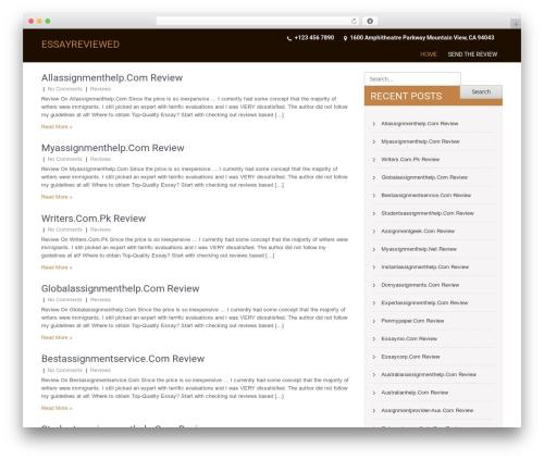 SKT Coffee free WP theme - essayreviewed.com
