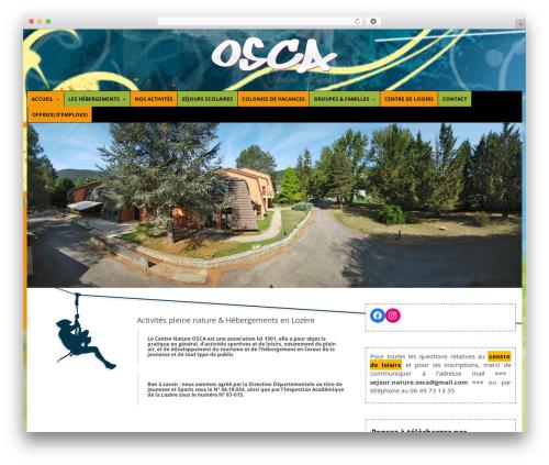 Theme BMS WordPress page template - centre-nature-osca.com