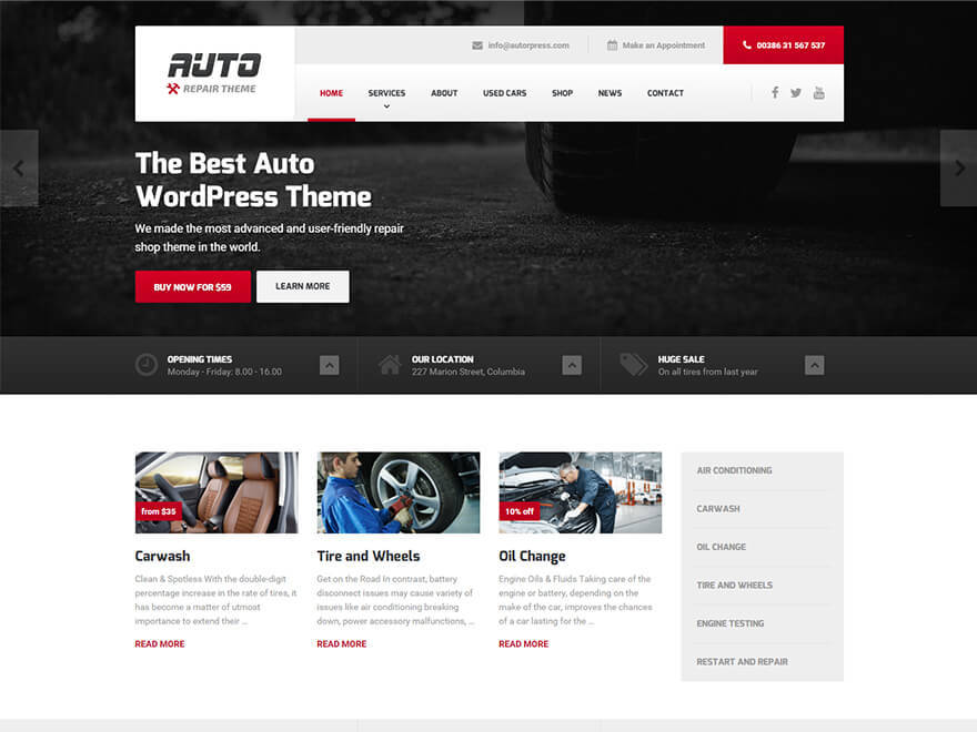 Auto PT WordPress template for business