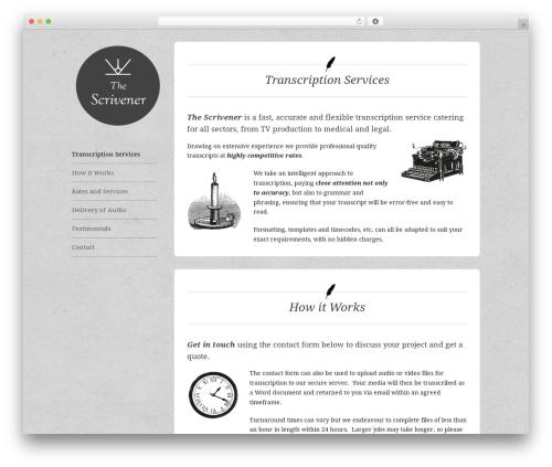 Best WordPress theme Solo - thescrivener.co.uk