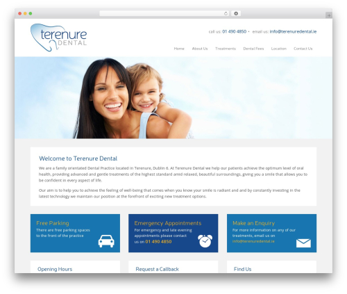 Best WordPress theme terenuredental - terenuredental.ie