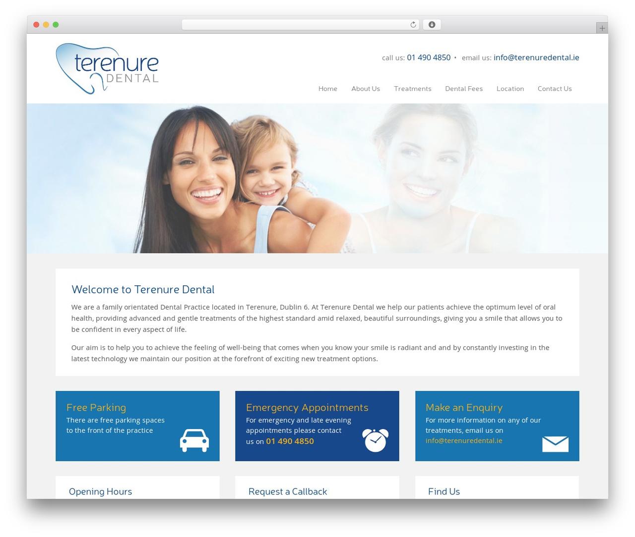 Best WordPress theme terenuredental - terenuredental.ie