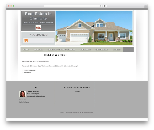 Concise WordPress real estate - teresaredfield.com