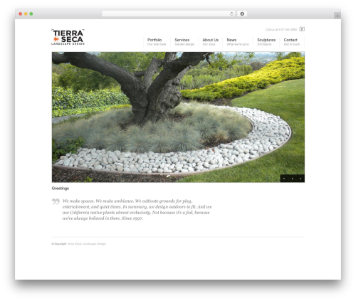 Corona top WordPress theme - tierraseca.com