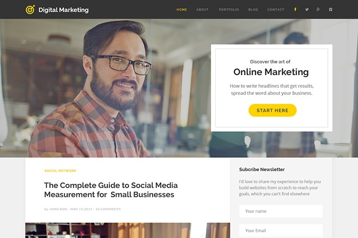 Digital MarKeting WordPress blog template