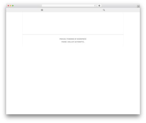 Isola theme WordPress - toadski.com