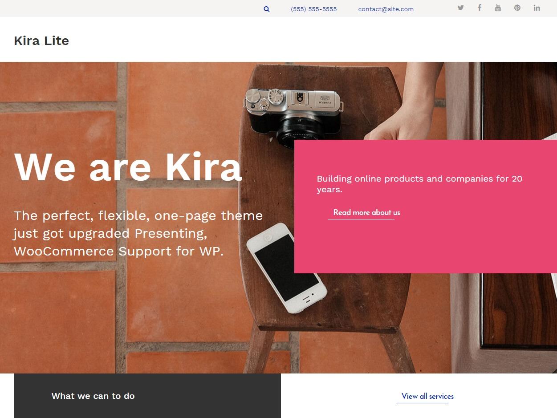 Kira Lite Child 01 WordPress theme