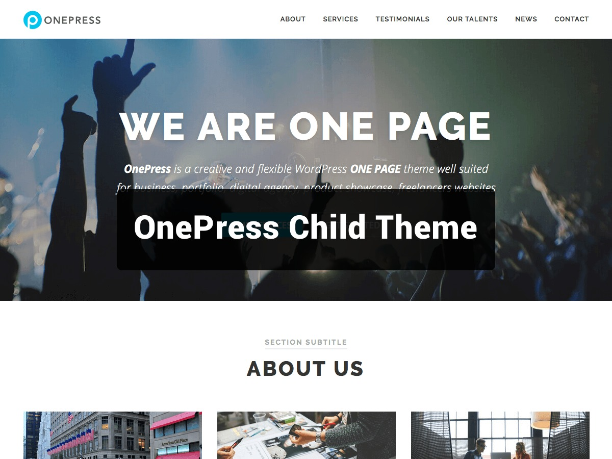 OnePress Child WordPress theme