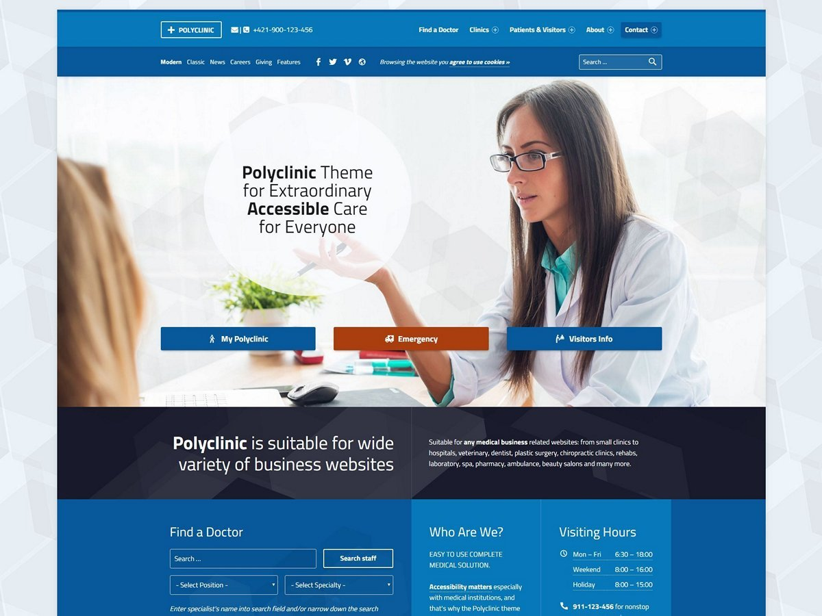 Polyclinic premium WordPress theme