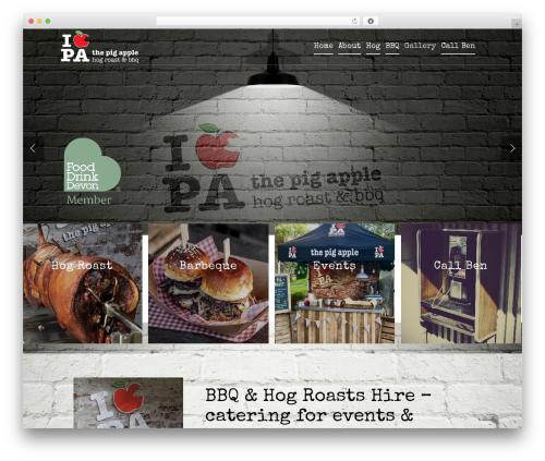 Salient WordPress wedding theme - the-pig-apple.com