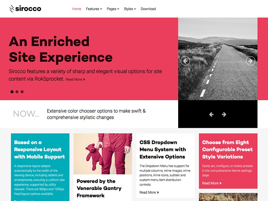 Sirocco WordPress theme