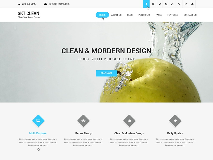 SKT Clean Pro best WooCommerce theme