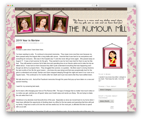Thesis WordPress theme - the-rumour-mill.com