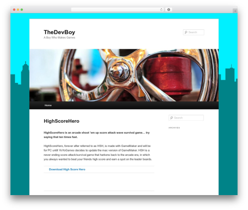 Twenty Eleven WordPress theme download - thedevboy.com