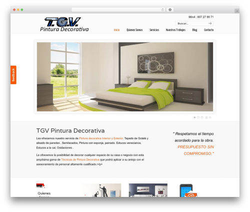 U-Design WordPress website template - tgvpinturadecorativa.com