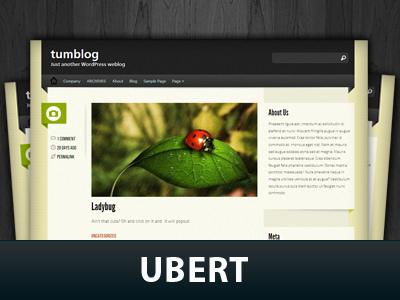 Ubert WordPress blog template