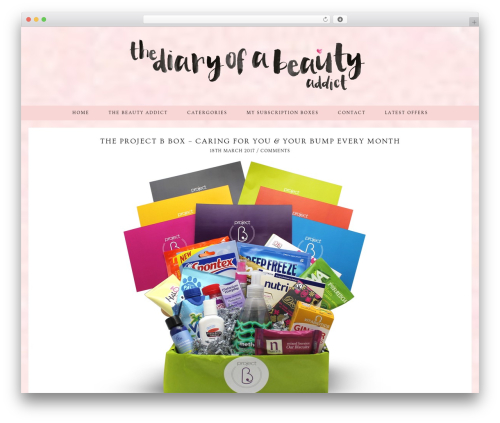 WordPress template Evelyn Rose (pipdig) - thediaryofabeautyaddict.com
