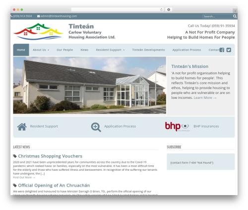 WordPress theme Canvas - tinteanhousing.com