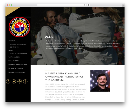 WordPress theme TheWest - threeriversmartialarts.com