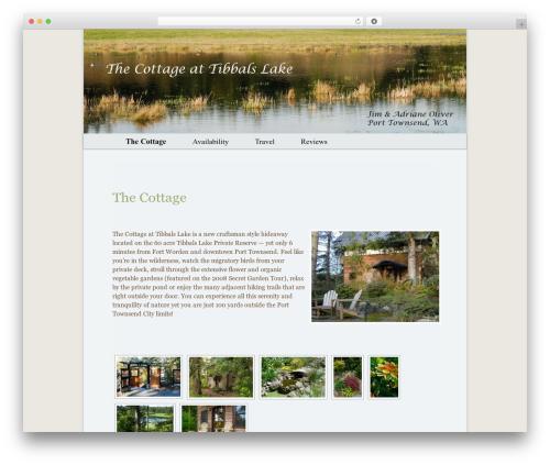 WordPress website template Oliver - tibbalslakecottage.com