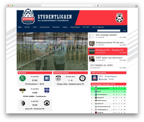 WP theme Football Club - tsff.no