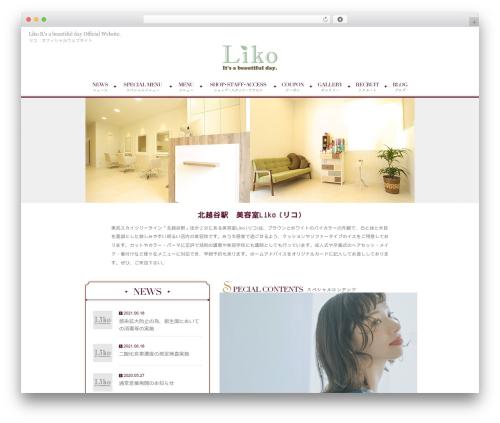 RAYMIX-Plain theme WordPress - liko-hairmake.com