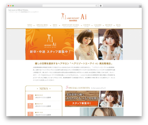 RAYMIX-Plain WordPress theme - hair-resort-ai-takadanobaba.com