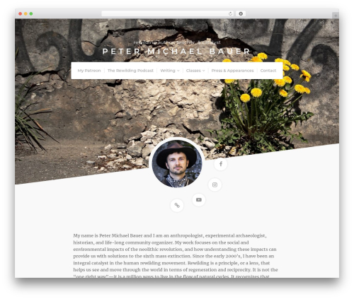 Template WordPress Organic Profile - petermichaelbauer.com