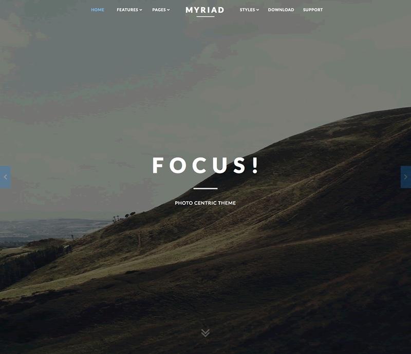 WordPress theme Myriad