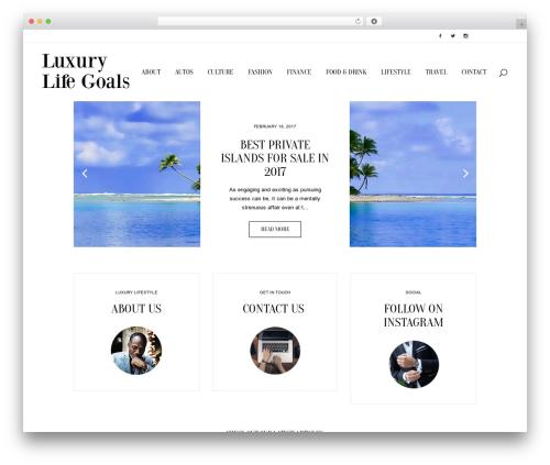 Bridge WordPress travel theme - luxurylifegoals.com