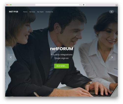 Businessx best free WordPress theme - inet-pub.com