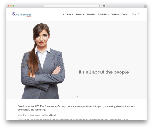 Creativo Theme WordPress theme - afs-performance.com