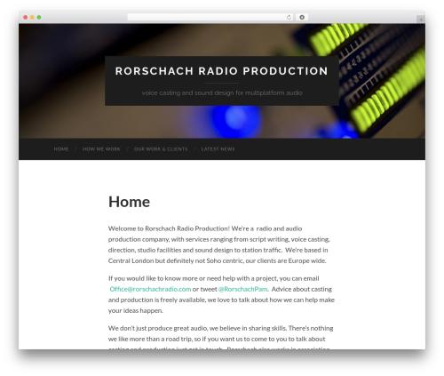 Hemingway theme WordPress free - rorschachradio.com
