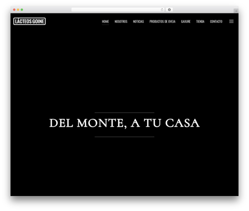 Inspiro WordPress website template - lacteosgoine.com