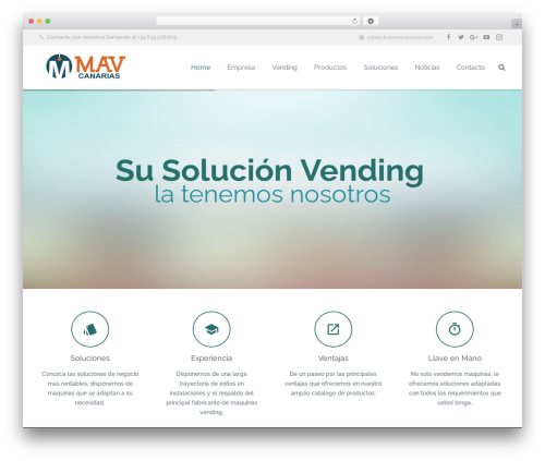 Impreza best WordPress template - mavcanarias.com