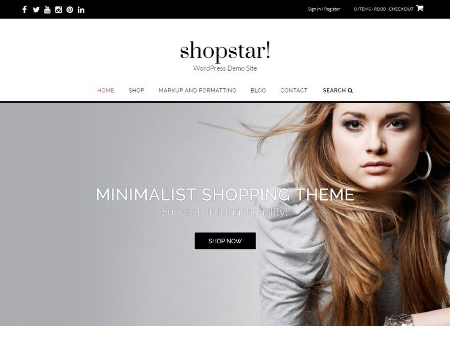 Shopstar Child Theme WordPress shop theme