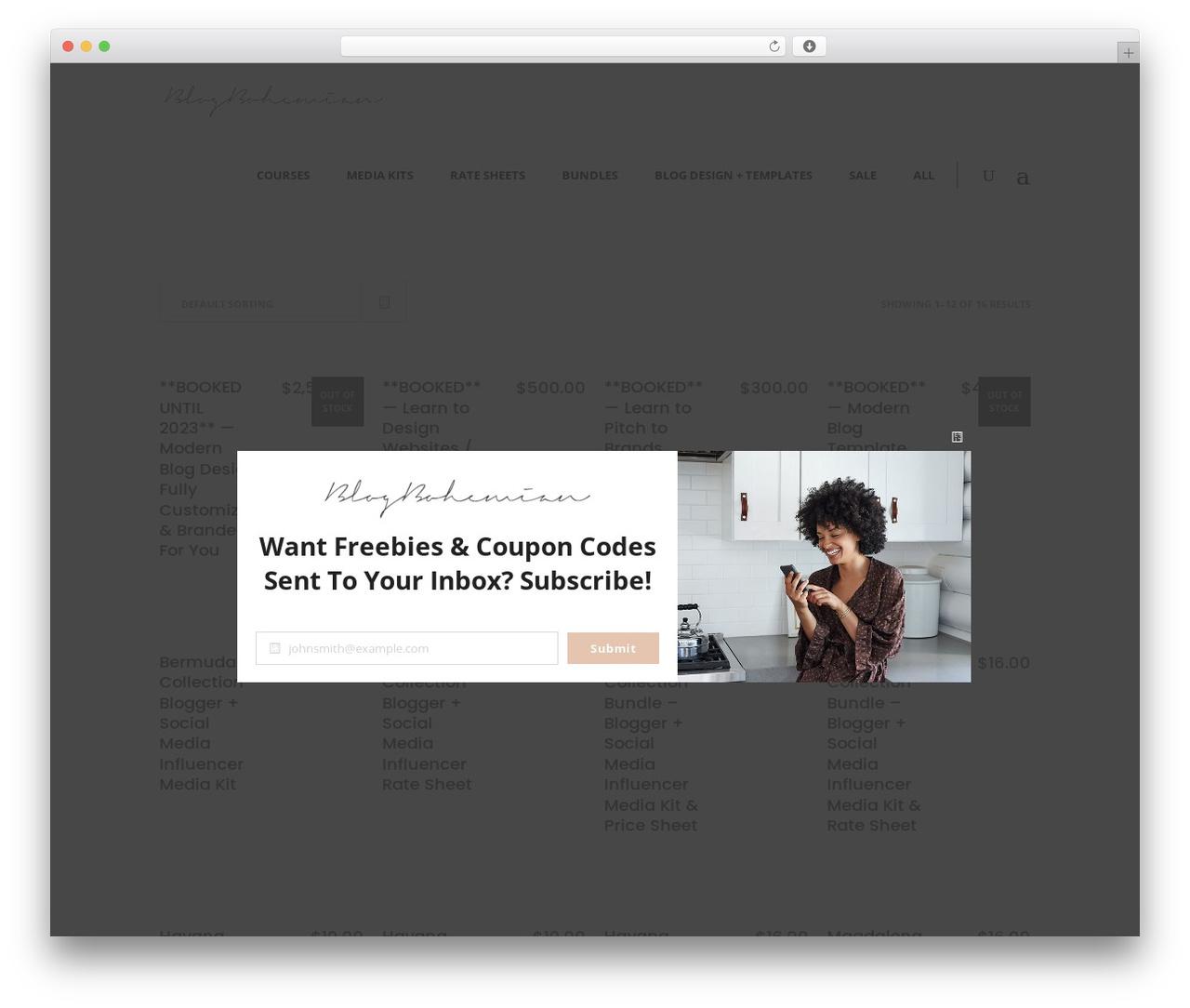 Averly WordPress blog template - blogbohemian.com