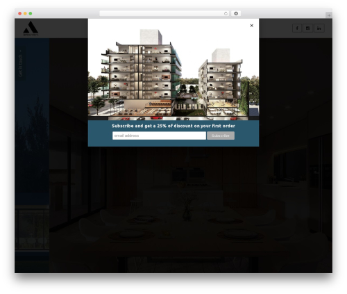 Chester WordPress page template - arkrenders.com