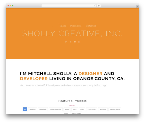 WordPress theme Orao - mitchellsholly.com