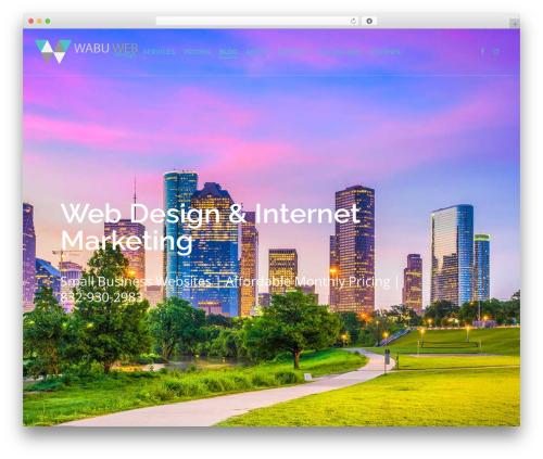 WordPress website template Salient - wabuweb.com